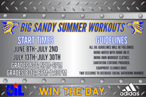 Summer Workout Schedule 2020